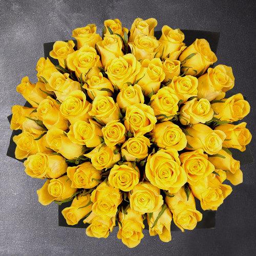50 kollast roosi